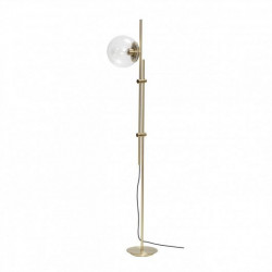 Lampadar auriu/transparent din metal si sticla 181 cm Billie Hubsch
