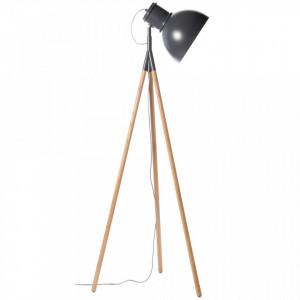 Lampadar gri din metal si lemn 145 cm Industry Frandsen Lighting
