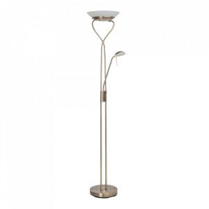 Lampadar maro alama/alb din sticla si metal cu 2 LED-uri 180 cm Ollie Brilliant