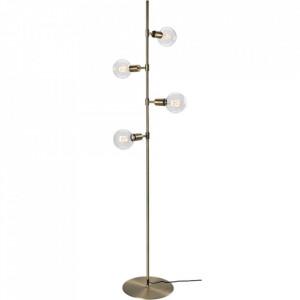 Lampadar maro alama din metal cu 4 becuri 182,6 cm Piper Floor Brass Bolia
