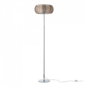 Lampadar maro bronz/argintiu din metal si sticla cu 2 becuri 162 cm Relax Brilliant