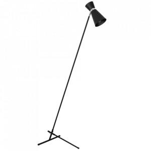 Lampadar negru/argintiu din metal 162 cm Kedar Aldex