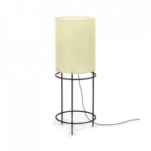 Lampadar negru/bej din fier si hartie 110 cm Rithm Serax