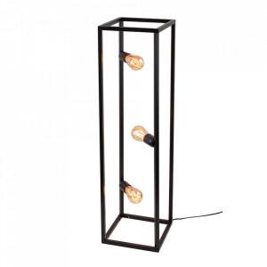 Lampadar negru din metal cu 3 becuri 93 cm Cube Floor Aldex