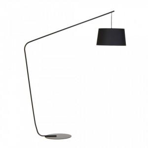 Lampadar negru din metal si textil 205 cm Lobby Frandsen Lighting