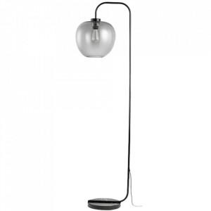 Lampadar negru/gri din metal si sticla 180 cm Grape Floor Bolia