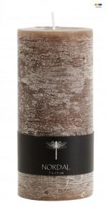 Lumanare maro din parafina 15 cm Brown Candle Medium Nordal