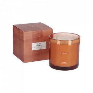 Lumanare parfumata din sticla si ceara 13 cm Citronella Kave Home
