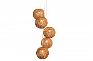 Lusta maro din canepa cu 5 becuri Cocooning Pearls Invicta Interior