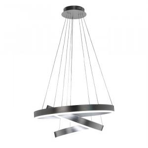 Lustra argintie din aluminiu cu LED Jenna Richmond Interiors