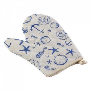 Manusa bucatarie alba/albastra din textil Nautical Versa Home