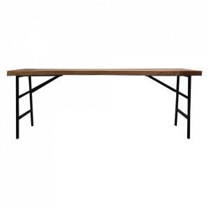 Masa bar maro/neagra din lemn 73x300 cm Grou Vical Home