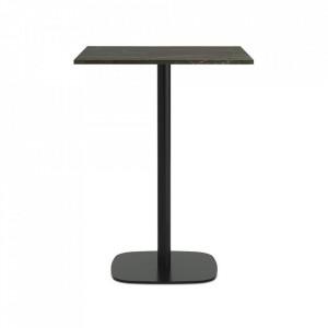 Masa bar neagra/maro din marmura si otel 70x70 cm Form Normann Copenhagen