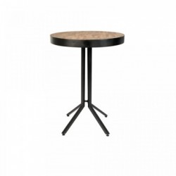Masa bar rotunda din lemn reciclat maro 75 cm Maze Round White Label