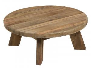 Masa cafea rotunda din lemn reciclat 90 cm Bunta Santiago Pons