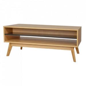 Masa din PAL si lemn pentru cafea 60x110 cm Avon Woodman
