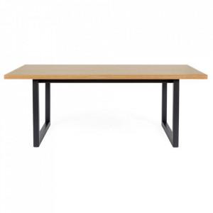 Masa din PAL si lemn pentru cafea 60x120 cm Camden Woodman