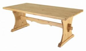 Masa dining din lemn de pin 90x160 cm Monastery Zago