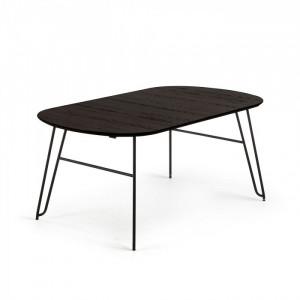 Masa dining extensibila din lemn 90x140(220) cm Norfort Oval La Forma