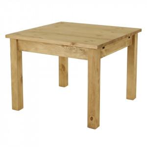 Masa dining extensibila din lemn de pin 100x(100)200 cm Table Zago