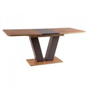 Masa dining extensibila maro din lemn 80x136(176) cm Platon Signal Meble