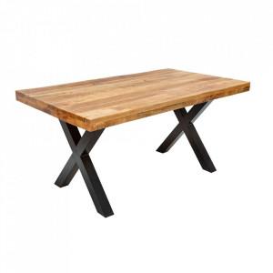 Masa dining maro din lemn de mango si fier 90x160 cm Iron Craft Invicta Interior
