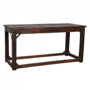 Masa dining maro din lemn de tec si fier 60x143 cm Osh Raw Materials