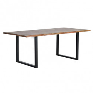Masa dining maro/neagra din lemn de salcam si metal 100x180 cm Frey Giner y Colomer