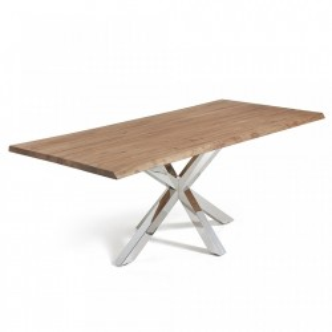 Masa dining otel si lemn stejar 100x220 cm Arya La Forma