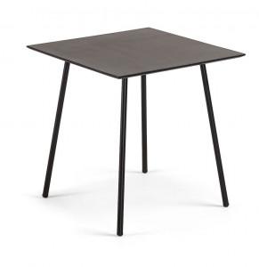 Masa dining patrata neagra din poli-ciment pentru exterior 75x75 cm Ulrich La Forma