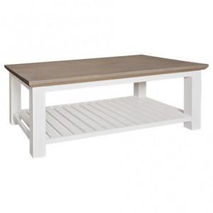 Masa maro/alba din lemn si MDF pentru cafea 75x130 cm Westwood Richmond Interiors