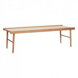 Masa maro din lemn de stejar pentru cafea 50x137 cm Lia Hubsch