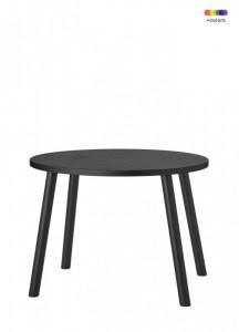 Masa neagra din lemn de stejar 39x54 cm pentru copii Mouse Nofred