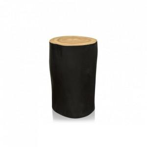 Masa neagra din lemn pentru cafea 28 cm Tree Stool Versmissen