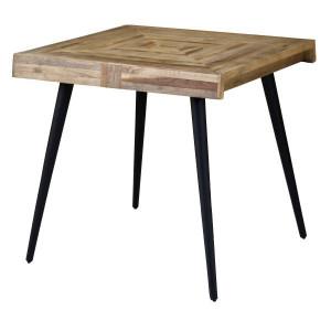 Masa patrata din lemn tec si metal 80x80 cm Woody Zago