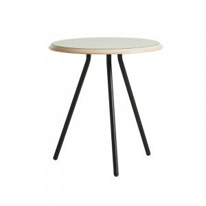 Masuta gri/neagra din lemn si metal 45 cm Soround Woud