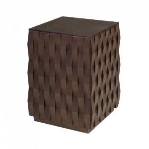 Masuta maro din lemn de mindi 37x37 cm Naga Versmissen