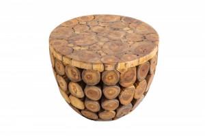 Masuta maro din lemn pentru cafea 50 cm Pure Nature Invicta Interior