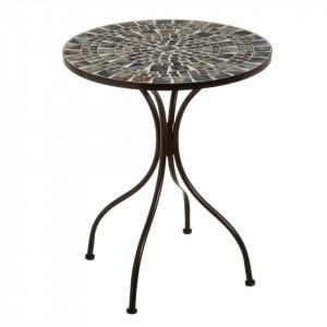 Masuta multicolora din ceramica si metal pentru exterior 60 cm Dainty Table Single Unimasa