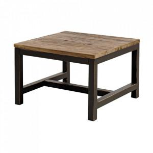 Masuta neagra/maro din metal si lemn 60x60 cm Alivany Actona Company