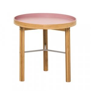 Masuta roz din bambus pentru cafea 40 cm Mauve Bloomingville
