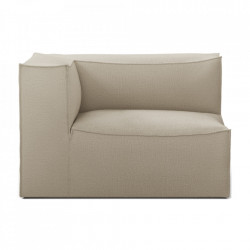 Modul canapea bej din in 119 cm Catena Armrest Left Natural Ferm Living