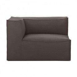 Modul canapea maro din bumbac si in 119 cm Catena Armrest Left Hot Ferm Living
