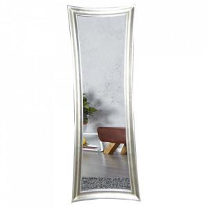 Oglinda dreptunghiulara argintie din lemn 60x180 cm Skinny Invicta Interior