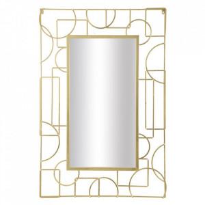 Oglinda dreptunghiulara aurie din fier 80x120 cm Marie Mauro Ferretti