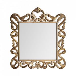 Oglinda dreptunghiulara aurie din lemn 120x133 cm Enzo Vical Home
