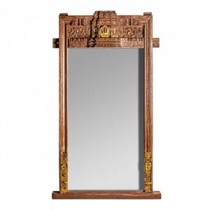 Oglinda dreptunghiulara maro din lemn 100x195 cm Alec Vical Home