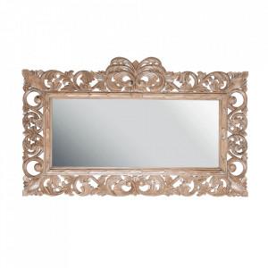 Oglinda dreptunghiulara maro din lemn 110x180 cm Miha Natual Vical Home