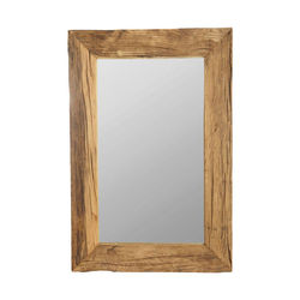 Oglinda dreptunghiulara maro din lemn 60x90 cm Pure Nature House Doctor