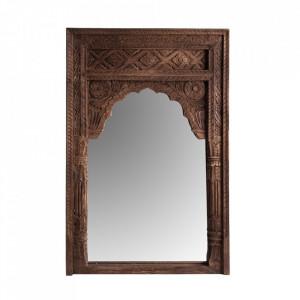 Oglinda dreptunghiulara maro din lemn 80x120 cm Shelby Vical Home